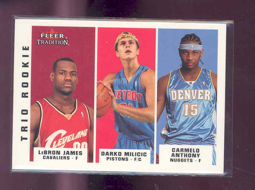 2003-04 Fleer Tradition #291 Lebron James rookie /Darko/ Carmelo Anthony rookie NM-MT (02)