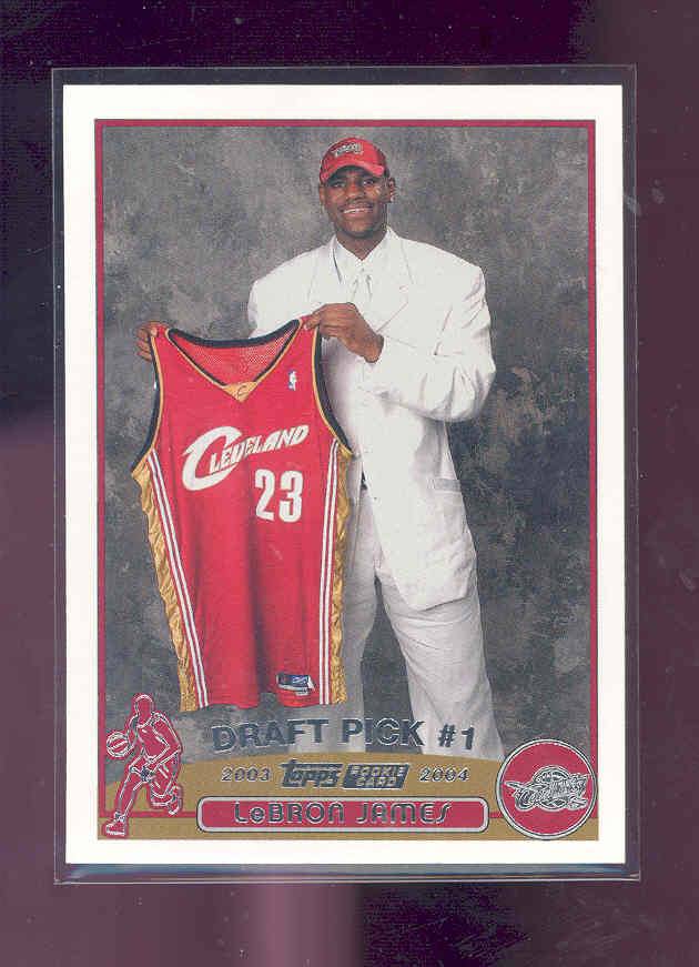 2003-04 Topps #221 LeBron James rc Rookie NM-MT (01)