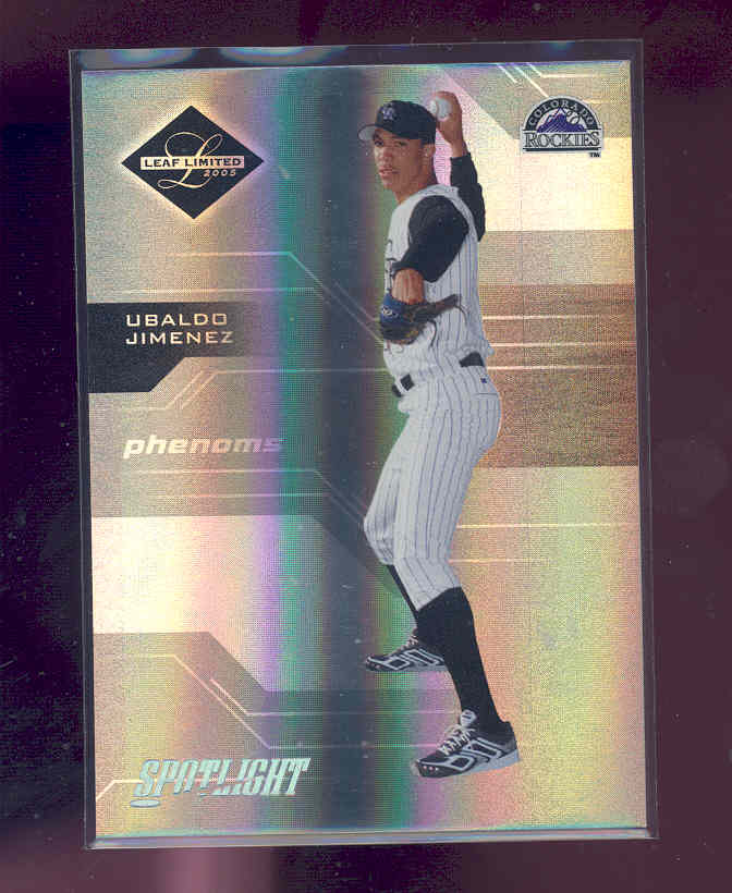 2005 Leaf Limited Silver Spotlight #198 Ubaldo Jimenez PH