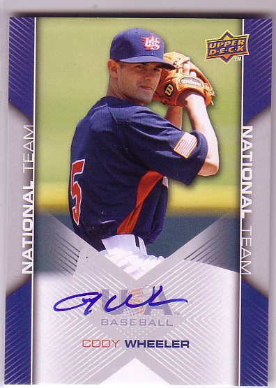 2009-10 USA Baseball #USA63 Cody Wheeler AU