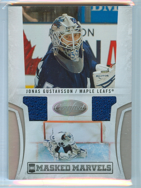2010-11 Certified Masked Marvels Materials #3 Jonas Gustavsson
