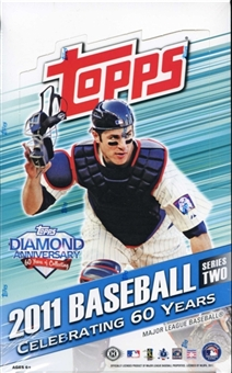 3 BOX LOT : 2011 Topps Series 2 ( Two ) Baseball Factory Sealed HOBBY Box - 1 Autograph Or Relic Card Per Box & Possible Cut Signatures & HOBBY Exclusive PRIME 9 Cards - WEEKEND SPECIAL - In Stock