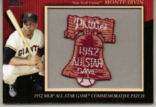 2010 Topps Commemorative Patch #MCP61 Monte Irvin