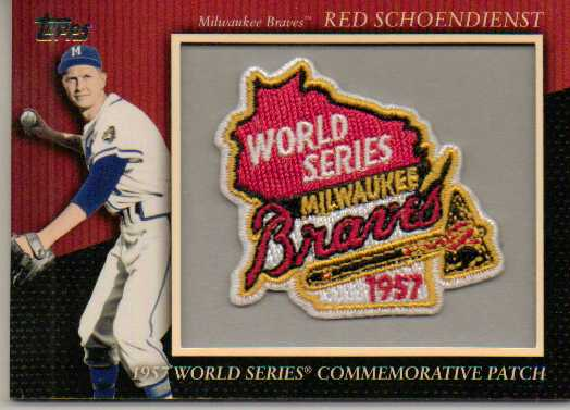 2010 Topps Commemorative Patch #MCP84 Red Schoendienst