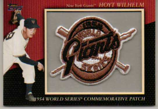 2010 Topps Commemorative Patch #MCP88 Hoyt Wilhelm
