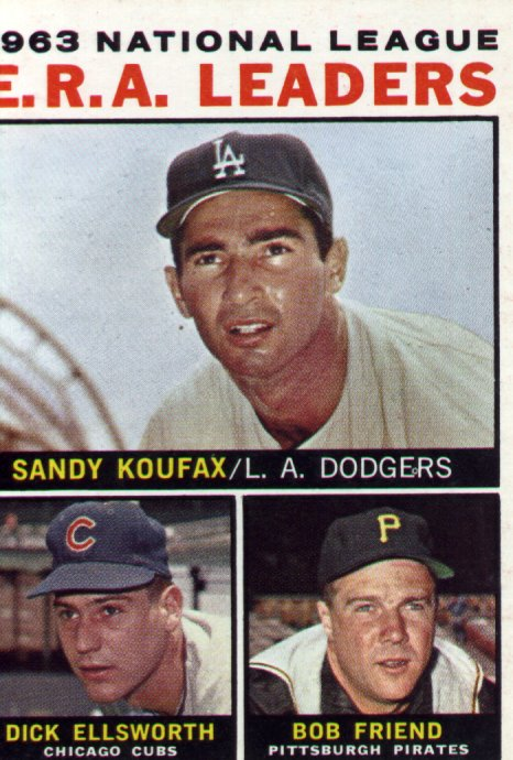 1964 Topps #1, Sandy Koufax, Dick Ellsworth, Bob Friend, near mint, $24.00