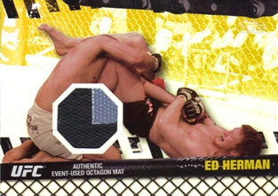 2010 Topps UFC Fight Mat Relics Gold #FMEM Ed Herman/UFN 8