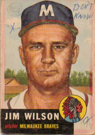 1953 Topps #208 Jim Wilson