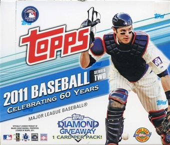 2011 Topps Series Two ( 2 ) Baseball Factory Sealed HTA JUMBO Box - 1 Autograph & 2 Relics Cards Per Box - Possible Cut Signature Cards + A Mickey Mantle Card - In Stock Now