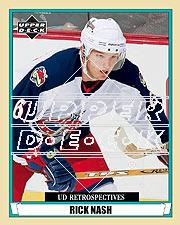 2002-03 UD Artistic Impressions Retrospectives #R92 Rick Nash