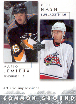 2002-03 UD Artistic Impressions Common Ground #CG6 Rick Nash/Mario Lemieux