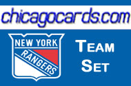 New York Rangers 2010-11 Score 17-card Team Set with Rookies