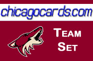 Phoenix Coyotes 2010-11 Score 17-card Team Set