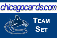 Vancouver Canucks 2010-11 Score 19-card Team Set with Rookies