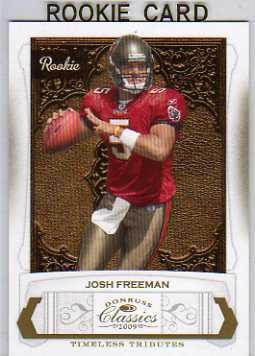 2009 Donruss Classics Timeless Tributes Gold #207 Josh Freeman