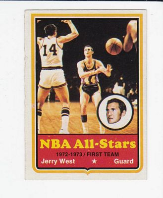 1973-74 Topps #100 Jerry West AS1