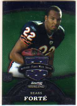 2008 Bowman Sterling Jerseys Green #149 Matt Forte