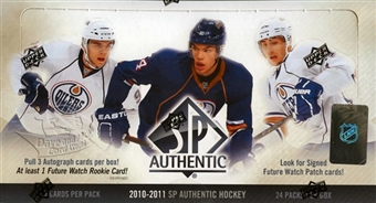 2010 - 11 ( 2011 ) Upper Deck SP Authentic Hockey Factory Sealed Hobby Box With 3 Autographed ( 1 Future Watch Rookie Auto ) Cards Per Box - Possible Wayne Gretzky Bobby Orr Gordy Howe - In Stock Now