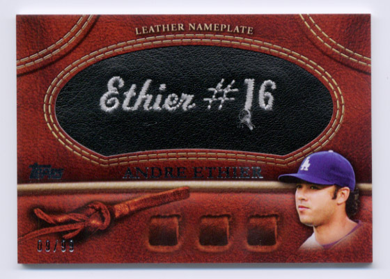 2011 Topps Glove Manufactured Leather Nameplates Black #AE Andre Ethier