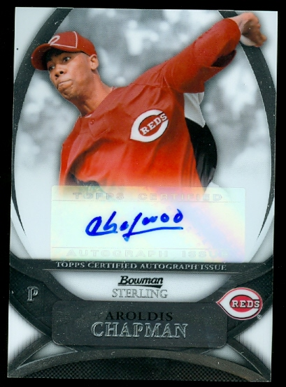 2010 Bowman Sterling Prospect Autographs #AC Aroldis Chapman