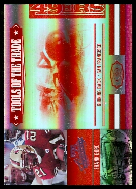2007 Absolute Memorabilia Tools of the Trade Red Spectrum #63 Frank Gore
