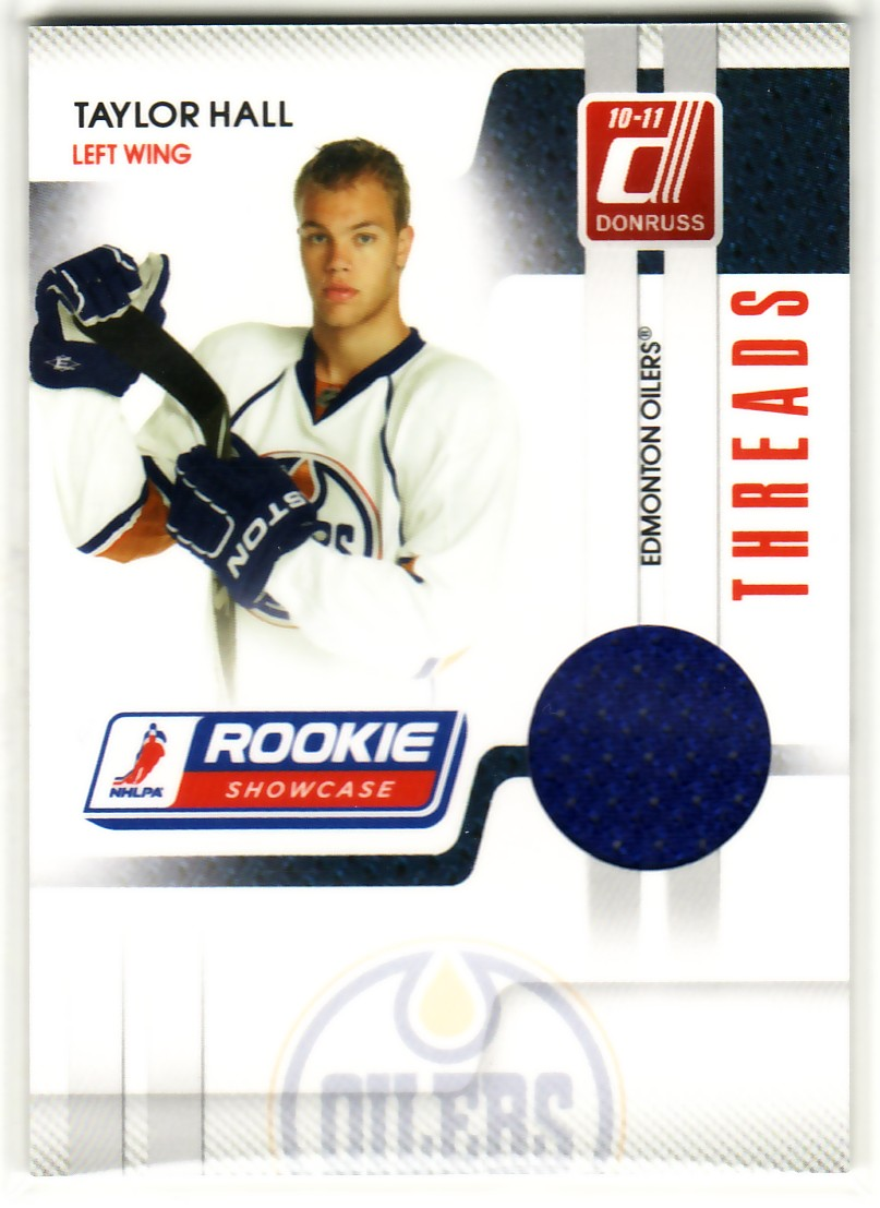 2010-11 Donruss Rookie Showcase Threads #TH Taylor Hall