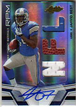 2010 Absolute Memorabilia #207 Jahvid Best RPM AU RC