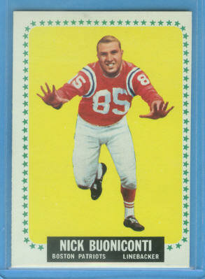 1964 Topps #3 Nick Buoniconti