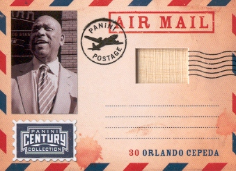 2010 Panini Century Air Mail Bats #11 Orlando Cepeda/250