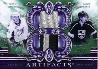 2010-11 Artifacts Tundra Tandems Patches Emerald #TT22008 Steven Stamkos/Drew Doughty