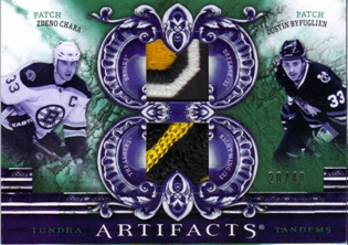 2010-11 Artifacts Tundra Tandems Patches Emerald #TT2PGEO Zdeno Chara/Dustin Byfuglien