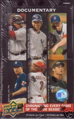 2008 Upper Deck Documentary Baseball Factory Sealed Box (24 Packs)