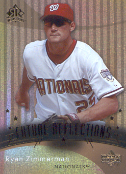 2005 Reflections #223 Ryan Zimmerman FR RC