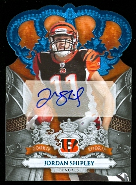2010 Crown Royale Autographs Blue #221 Jordan Shipley/50