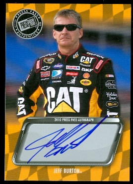 2010 Press Pass Autographs #8 Jeff Burton