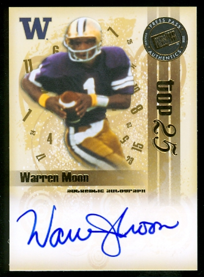 2008 Press Pass Legends Bowl Edition Top 25 Autographs #WM Warren Moon/35