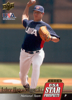 2009 Upper Deck Signature Stars USA Star Prospects #USA40 Asher Wojciechowski