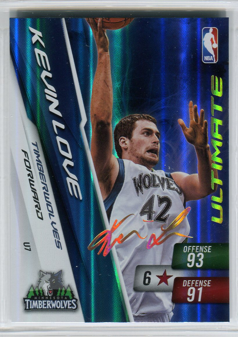 2010-11 Adrenalyn XL Ultimate Signature #7 Kevin Love