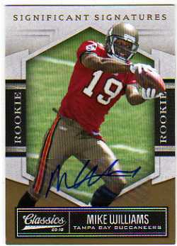 2010 Classics Significant Signatures Gold #171 Mike Williams/99
