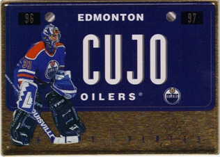 1996-97 Leaf Preferred Vanity Plates Gold #13 Curtis Joseph