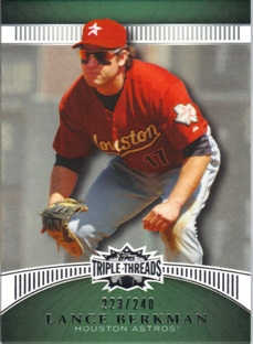 2010 Topps Triple Threads Emerald #96 Lance Berkman