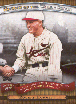 2010 Topps History of the World Series #HWS4 Rogers Hornsby