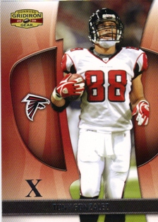 2009 Donruss Gridiron Gear Silver X's #92 Tony Gonzalez