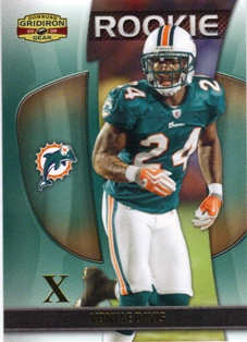 2009 Donruss Gridiron Gear Gold X's #199 Vontae Davis