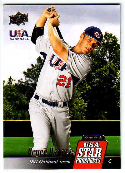 2009 Upper Deck Signature Stars USA Star Prospects #USA8 Bryce Harper