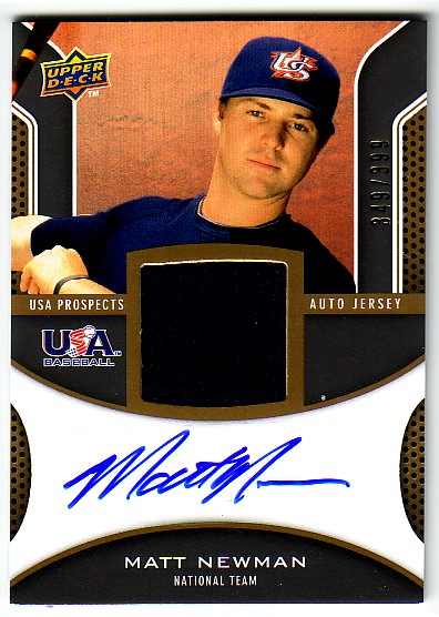 2009 Upper Deck Signature Stars USA Star Prospects Jersey Autographs #MN Matt Newman
