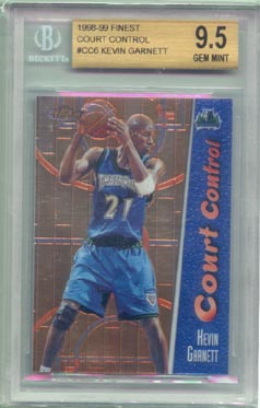 1998/99 Topps Finest Basketball #CC6 Court Control Kevin Garnett BGS Gem Mint 9.5  1 of 1