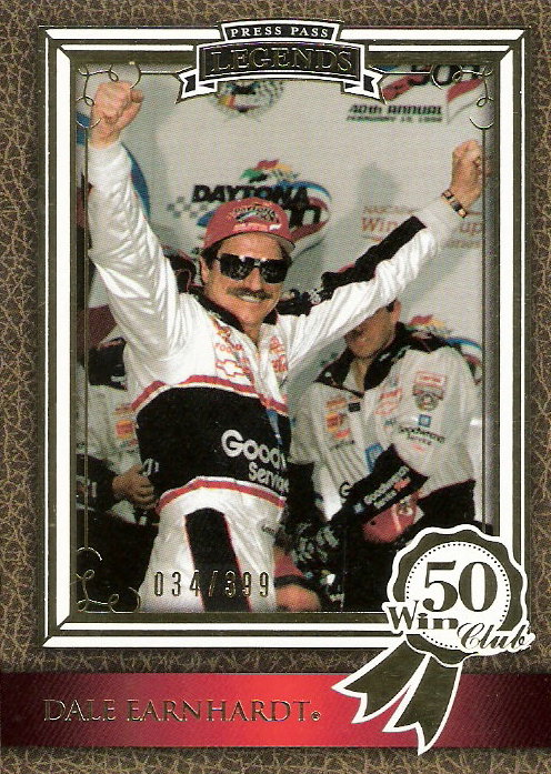 2010 Press Pass Legends Gold #67 Dale Earnhardt WC