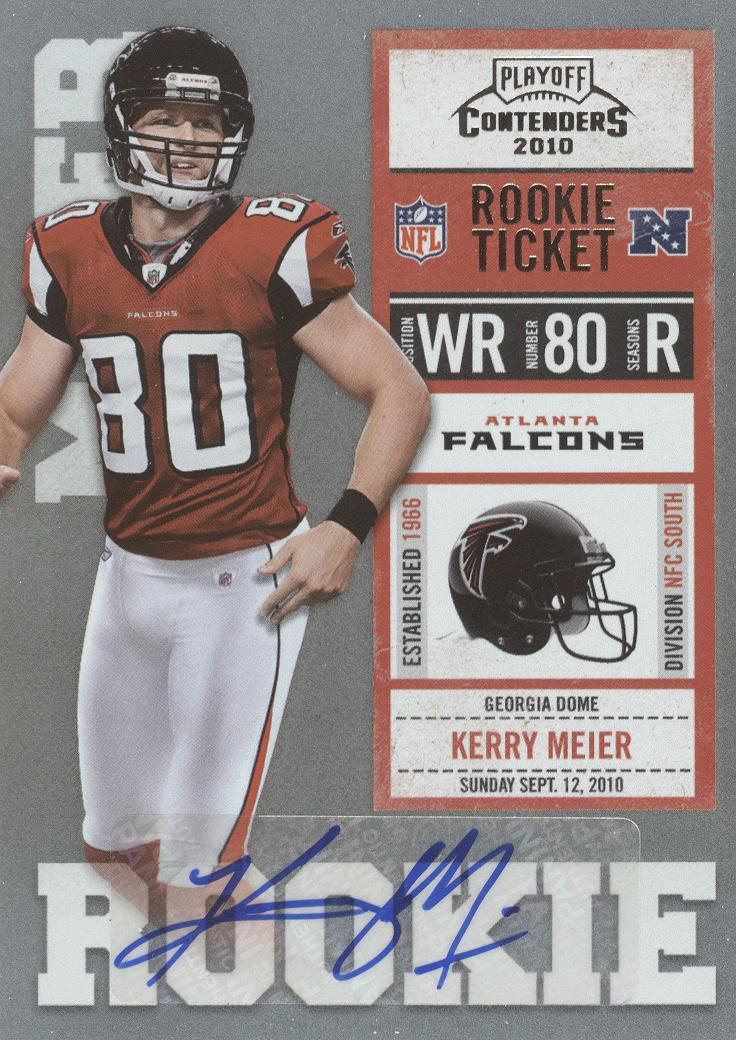 2010 Playoff Contenders #160 Kerry Meier AU RC