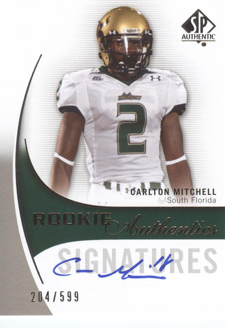 2010 SP Authentic #176 Carlton Mitchell AU RC